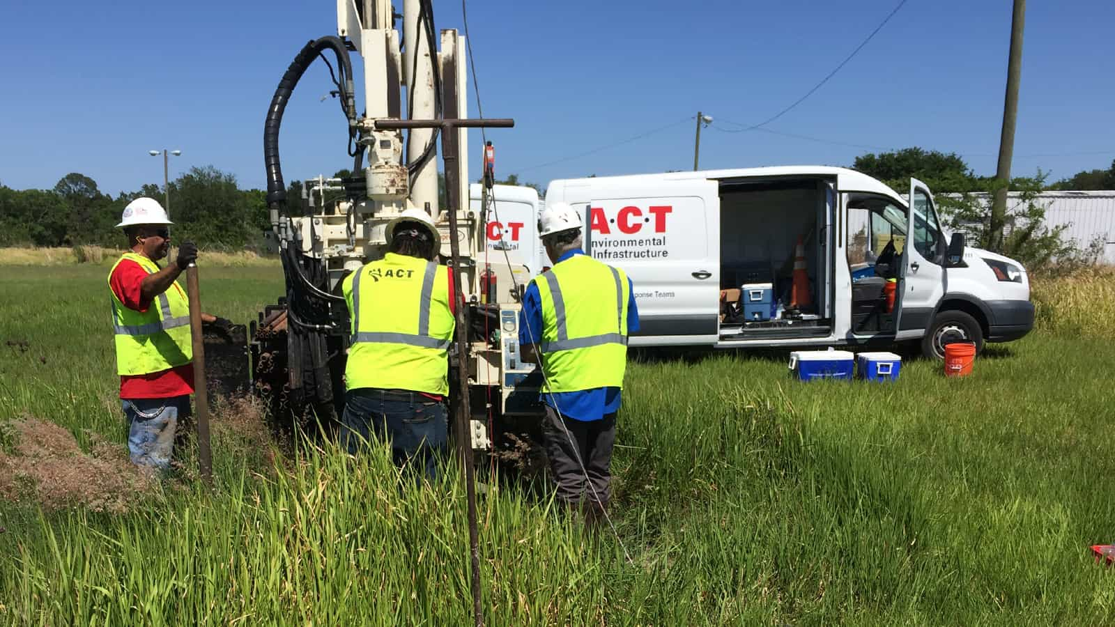 ACT working on remediation on site
